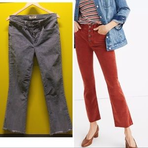 Madewell Tall Cali Demi-Boot Jeans Corduroy